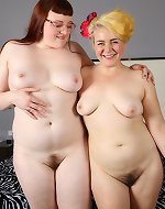 Sylvia Smith & Toby Memphis Hairy Roommates and Jolene & Poppy Chubby Sunrise